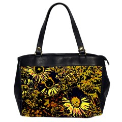 Amazing Neon Flowers B Office Handbags (2 Sides)