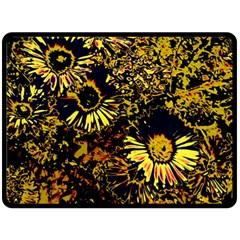 Amazing Neon Flowers B Fleece Blanket (large)