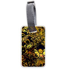 Amazing Neon Flowers B Luggage Tags (one Side)