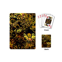 Amazing Neon Flowers B Playing Cards (mini)