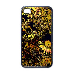 Amazing Neon Flowers B Apple Iphone 4 Case (black)