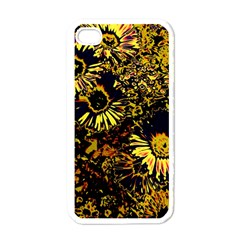 Amazing Neon Flowers B Apple Iphone 4 Case (white)