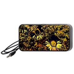 Amazing Neon Flowers B Portable Speaker