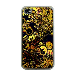 Amazing Neon Flowers B Apple Iphone 4 Case (clear)