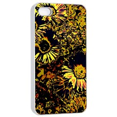 Amazing Neon Flowers B Apple Iphone 4/4s Seamless Case (white)