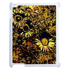 Amazing Neon Flowers B Apple Ipad 2 Case (white)