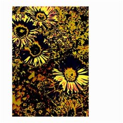 Amazing Neon Flowers B Small Garden Flag (two Sides)