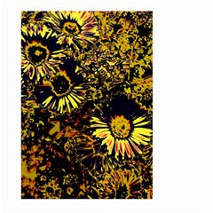Amazing Neon Flowers B Large Garden Flag (two Sides)