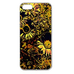 Amazing Neon Flowers B Apple Seamless Iphone 5 Case (clear)