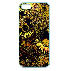 Amazing Neon Flowers B Apple Seamless Iphone 5 Case (color)