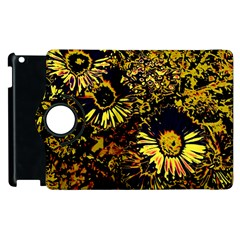 Amazing Neon Flowers B Apple Ipad 2 Flip 360 Case
