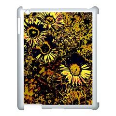 Amazing Neon Flowers B Apple Ipad 3/4 Case (white)