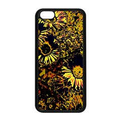 Amazing Neon Flowers B Apple Iphone 5c Seamless Case (black)