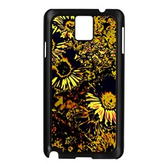 Amazing Neon Flowers B Samsung Galaxy Note 3 N9005 Case (black)