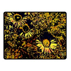 Amazing Neon Flowers B Double Sided Fleece Blanket (small)