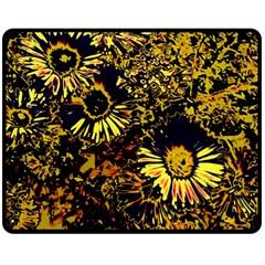 Amazing Neon Flowers B Double Sided Fleece Blanket (medium)