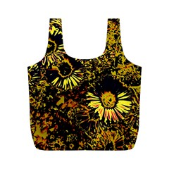 Amazing Neon Flowers B Full Print Recycle Bags (m)