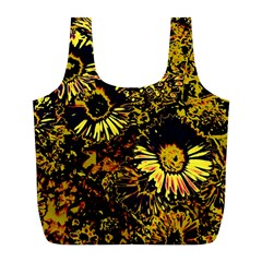 Amazing Neon Flowers B Full Print Recycle Bags (l)