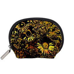 Amazing Neon Flowers B Accessory Pouches (small)