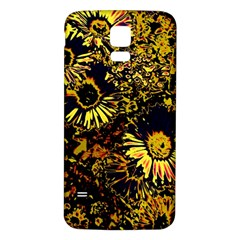 Amazing Neon Flowers B Samsung Galaxy S5 Back Case (white)