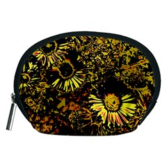 Amazing Neon Flowers B Accessory Pouches (medium)