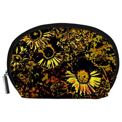 Amazing Neon Flowers B Accessory Pouches (large)
