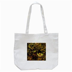 Amazing Neon Flowers B Tote Bag (white)