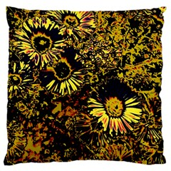 Amazing Neon Flowers B Large Flano Cushion Case (one Side)
