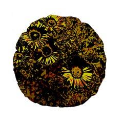 Amazing Neon Flowers B Standard 15  Premium Flano Round Cushions