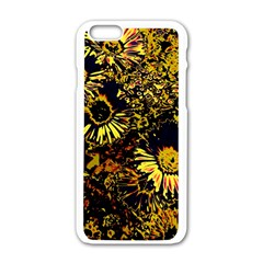 Amazing Neon Flowers B Apple Iphone 6/6s White Enamel Case
