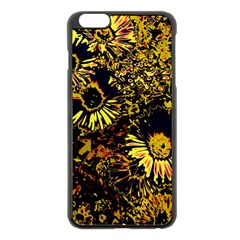 Amazing Neon Flowers B Apple Iphone 6 Plus/6s Plus Black Enamel Case