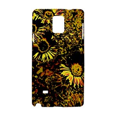 Amazing Neon Flowers B Samsung Galaxy Note 4 Hardshell Case