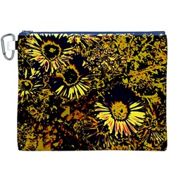 Amazing Neon Flowers B Canvas Cosmetic Bag (xxxl)