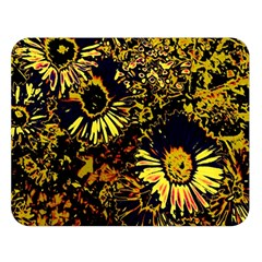 Amazing Neon Flowers B Double Sided Flano Blanket (large)