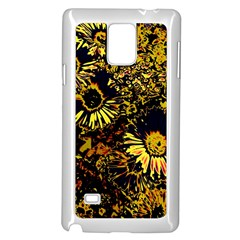 Amazing Neon Flowers B Samsung Galaxy Note 4 Case (white)