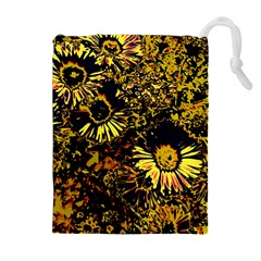 Amazing Neon Flowers B Drawstring Pouches (extra Large)