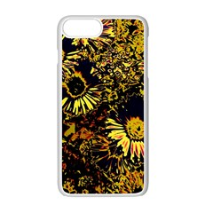 Amazing Neon Flowers B Apple Iphone 7 Plus White Seamless Case
