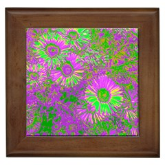 Amazing Neon Flowers A Framed Tiles