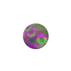 Amazing Neon Flowers A 1  Mini Magnets