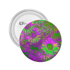 Amazing Neon Flowers A 2 25  Buttons