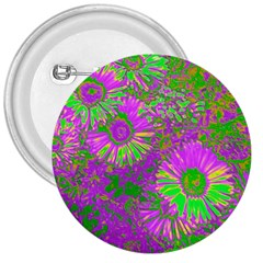 Amazing Neon Flowers A 3  Buttons