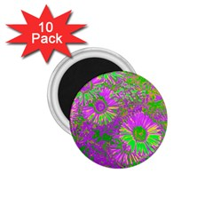 Amazing Neon Flowers A 1 75  Magnets (10 Pack)