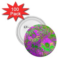 Amazing Neon Flowers A 1 75  Buttons (100 Pack)