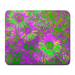 Amazing Neon Flowers A Large Mousepads