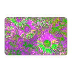 Amazing Neon Flowers A Magnet (rectangular)