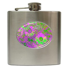 Amazing Neon Flowers A Hip Flask (6 Oz)