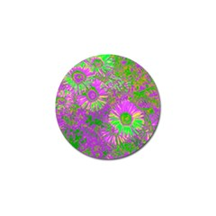 Amazing Neon Flowers A Golf Ball Marker