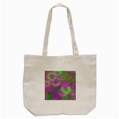 Amazing Neon Flowers A Tote Bag (cream)