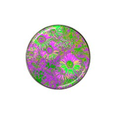 Amazing Neon Flowers A Hat Clip Ball Marker (4 Pack)