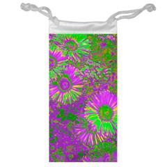Amazing Neon Flowers A Jewelry Bag